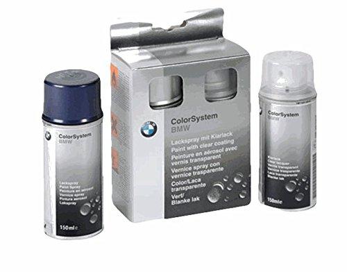 BMW - Juego de espray de barniz (2 capas, color blanco alpino...