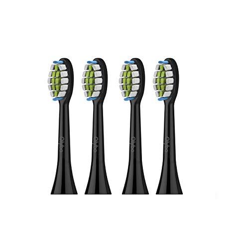 Ersatzbürsten für Olybo elektrische Zahnbürste, 4er Pack,ST13 Schwarz