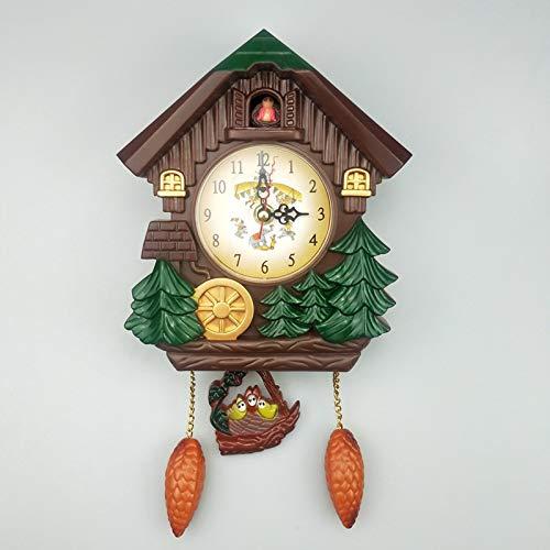Yfainioo Reloj De Cuco De Cuarzo, Reloj De Pared, Cuco De Ma