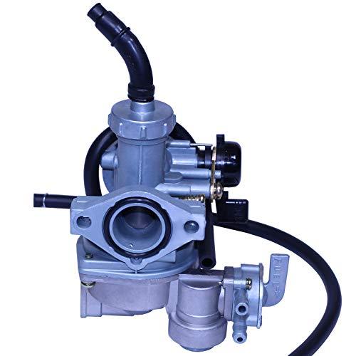 GLENPARTS Replacement Carburetor Compatible with Honda CT90 110 ATC110 125 1979 1980 1981 1982-1985 TRX90 90 125 50cc 70cc 110cc 125cc ATV Two Fuel Inlet 4 Cyce Engine 3 Wheelers ATVs