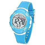 Reloj Digital Deportivo para Niños, Reloj de Pulsera Niña Multifunción con Pantalla LED Impermeable 30M para Niños, Niñas Reloj Infantil Aprendizaje para Niños 4-15 Años (Azul)