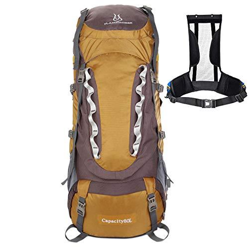 Trekking Randonnée Camping pour Homme Femme Support de Sac d'alpinisme 80L Support de Sac à Dos en Nylon imperméable pour l'extérieur, Support de Grande capacité, Support Amovible