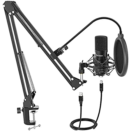 Fifine T730 USB Microphone Kit with 16mm Capsule, Arm Stand, Shock Mount, Pop Filter for for Windows PC, Laptop, MAC, PS4 with Cardioid Pattern for Voice Recording, Podcast, YouTube Videos