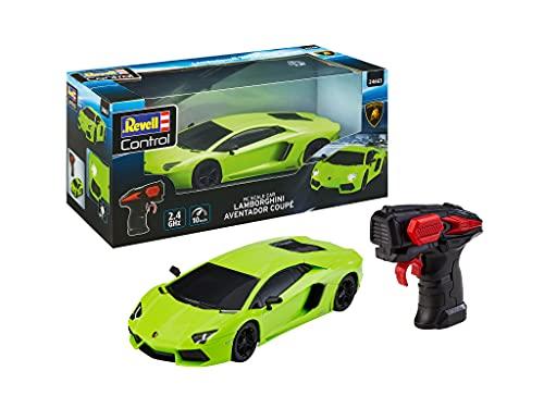 Revell Control- Revell Escala RC Lamborghini Aventador, 1:24, Coche teledirigido de 19,9 cm, Color Verde (24663)