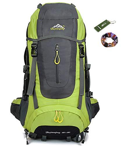 onyorhan Viaje Mochila Trekking Senderismo Excursionismo Alpinismo Escalada Camping para Hombre Mujer 70 L (verde)
