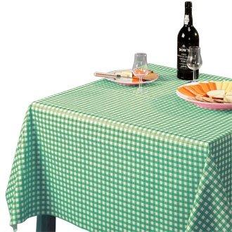 20 Restauration E796 Nappe facile à nettoyer, vert, carreaux, 890 mm x 890 mm, 88,9 x 88,9 cm