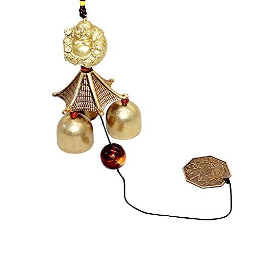 Hooshing Wind Chimes Maitreya Buddha Classical Metal Bells Tiny Wind Chime for Home Garden Yard Patio Hanging Decoration Gift