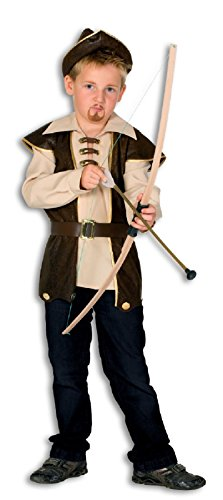narrenkiste L3101570-164-A - Disfraz de cazador con capucha para nios (talla 164)