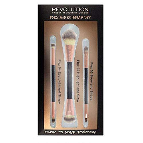 Flex & Go Brush Revolution - Juego de pinceles cosméticos
