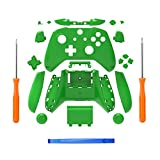 SN-RIGGOR Replacement Housing Full Shell Set Full Buttons Set Faceplates ABXY Buttons RB LB Bumpers for Xbox One S Slim Controller (3.5 mm Headphone Jack) S Controller Repair Parts (Green)