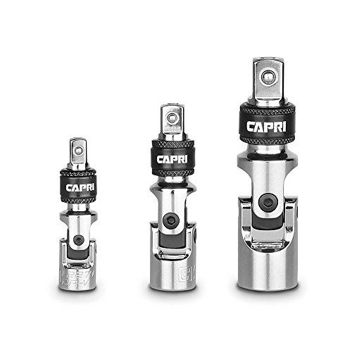 Capri Tools Locking Universal Joint Set, 3-Piece (0.375 Drive Locking Extension)