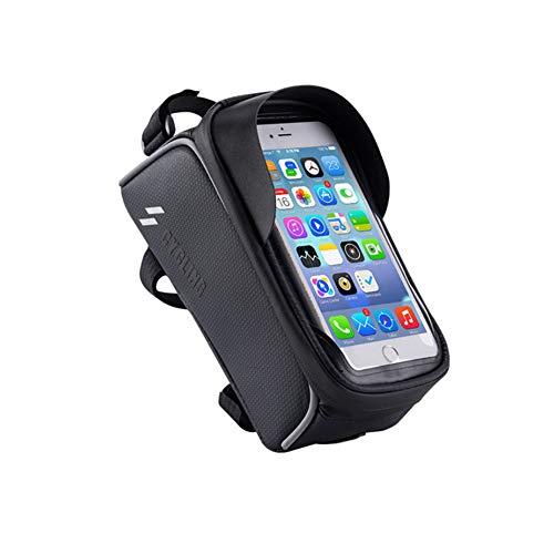 Las Bolsas para Cuadros de Bicicleta, Las Bolsas Pará y Ahorrar Bicicletas Son Adecuadas de para Teléfonos Móviles De Menos De 6.0 Pulgadas, (Black)