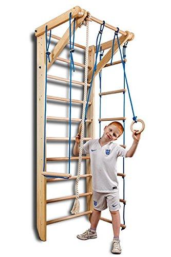 Klettergerüst, Turnwand, Gym Sport-2-240 Sportgerät, Kletterwand, Holz, Turnwand, Sprossenwand