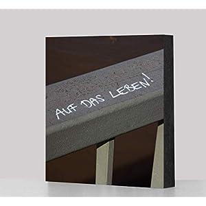 """Bild -""""Auf das Leben"""", 10×10 cm oder 14x14cm MDF, Geschenk, Deko, Kölngeschenk, Streetart"""