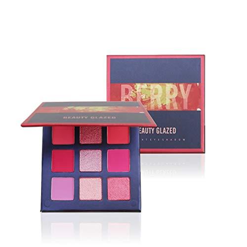 Lucoss Beauty Glazed Ombretto Palette Shimmer Matte 9 Colour Impermeabile Facile da colorare Ombretto