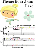 Theme from Swan Lake Easiest Piano Sheet Music with Colored Notation (English Edition)