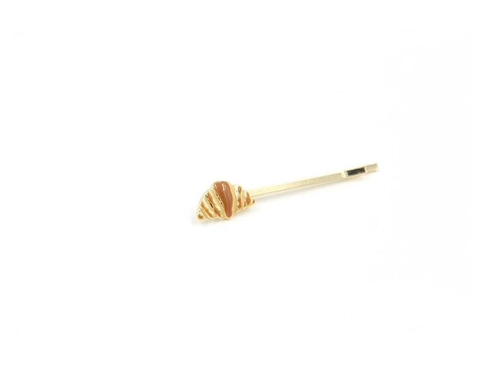 エスカレーター穿孔する節約するOsize 美しいスタイル ミルクコーヒーブレッドヘアクリップサイドクリップバレッタヘアアクセサリー(パン)