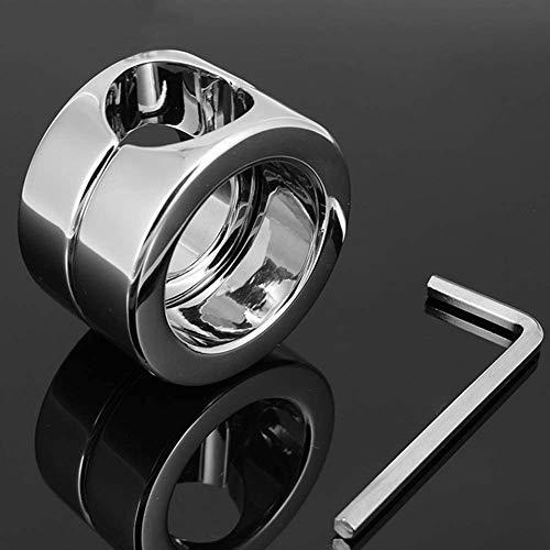 ABSM-L Penis Ring hohe Qualität Edelstahl Ballstretcher Cockring Cock and Ball Lock Mannes Schwanz Ring Enhancer Keuschheit Ringe mit Schraubenschlüssel und Schraube