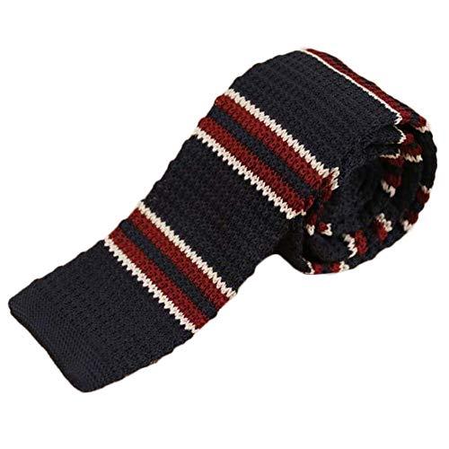 JUNJIAGAO-Tie Flache Bindung der Männer Neue Art und Weise Retro-Wolle gestrickt Krawatte Krawatte (Color : 36, Size : 145cm*5cm*4cm)