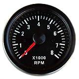 Drehzahlmesser Anzeige 52mm Retro Oldschool Zusatzinstrument Zusatzanzeige Instrument Drehzahl U/Min RPM universal