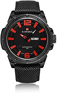 Naviforce Sport Watch For Men Analog Nylon - 9066-BRB