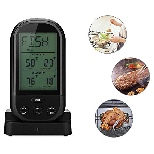 BBQ Thermometer - Remote Barbecue Digitale Thermometer, door Grill Captain - Draadloos vlees Thermometer, Gebruik in Grill, Oven, en Roker