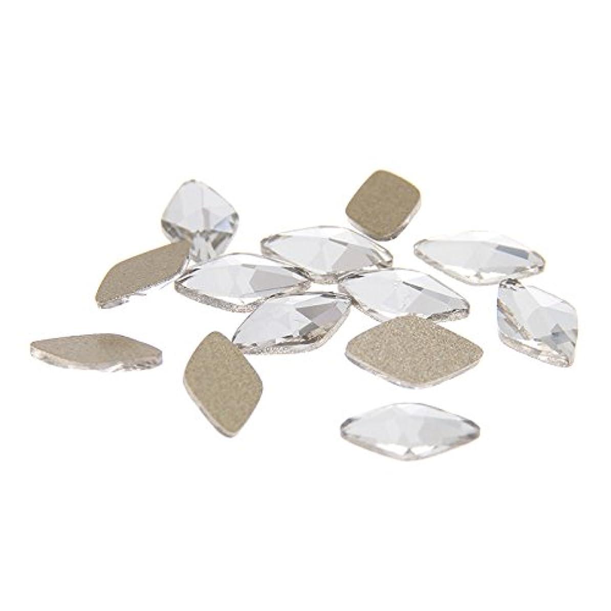 最も早い誰でも大破Nizi ジュエリー ブランド多くの形 クリスタルガラスネイルアート用品 50pcs ネイルステッカー DIY装飾用 (6x10mm 菱形)