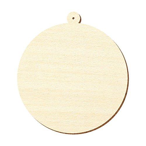 Legno compensato – Sfera per albero – dimensioni a scelta – pioppo 3 mm, altezza x larghezza: 5 x 5 cm