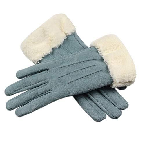 Guantes para Hombres y Mujeres Invierno Guantes calientes de las mujeres de la pantalla táctil de guantes de cuero femenino del dedo largo otoño caliente manoplas moda guantes de conducción Guantes de