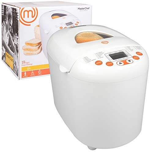 Review Of MasterChef Bread Maker- 2-Pound Programmable Machine w 19 Settings and 13-Hour Delay Timer...