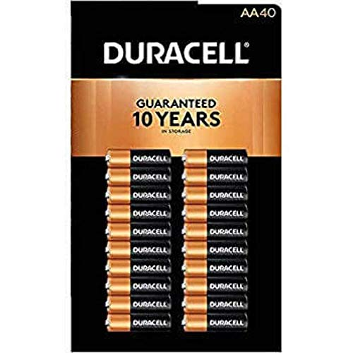Price comparison product image Duracell MN1500 Duralock Copper Top Alkaline AA Batteries - 40 Pack