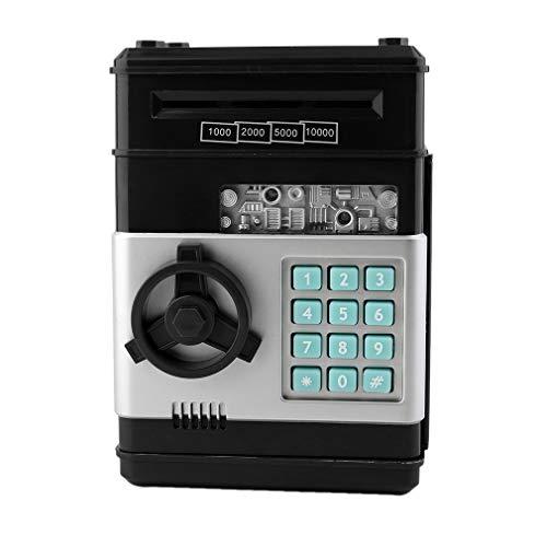 Cajero automático del Banco del Ahorro de la contraseña de la Caja Fuerte del Dinero electrónico de los niños para Las Monedas y los Billetes Negro