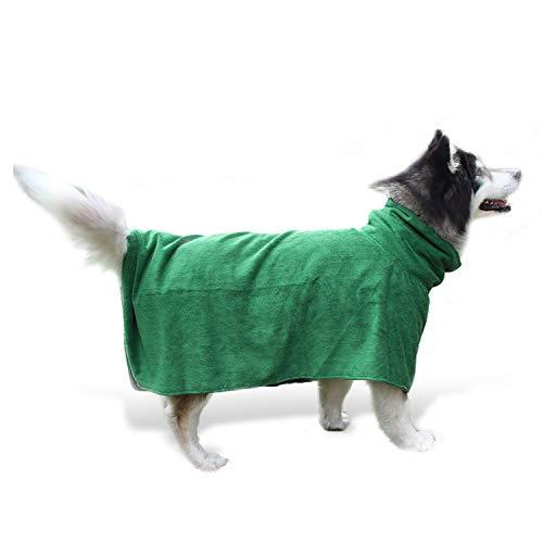 PETCUTE Toalla de baño para Perros Albornoz Toalla de Microfibra para Mascotas Toalla de Perro Absorbente Secado Rápido