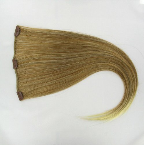 extensions à clip cheveux blond clair cuivré méché blond clair 60 cm ref: 27t613