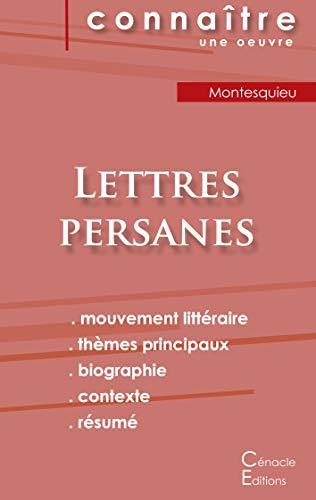 Fiche de lecture Lettres persanes de Montesquieu (analyse littéraire de référence et résumé complet)
