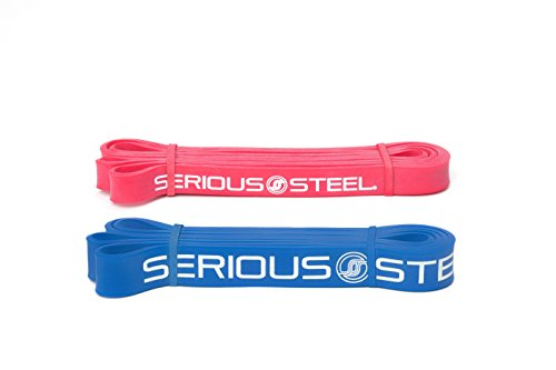 SERIOUS Steel Fitness Beginner Assisted Pull-up &Crossfit Resistance Band Package#2, 3 Band Set (10-80 lbs)