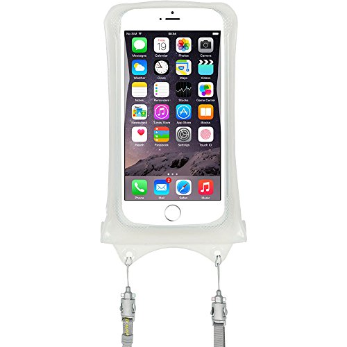 AquaVault 100% Waterproof Floating Smart Phone Case & Money Pouch, Fits All Phones, Dual Layer Shock Absorbing, Includes Neck Strap (White)