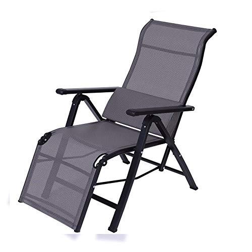 YLCJ Vouwstoel Recliners Fauteuil voor kantoor Siesta Lazy Stoel Fauteuil Balkon Lounge stoel Tuinstoel Strandstoel Computerstoel Vouwstoelen Zwart