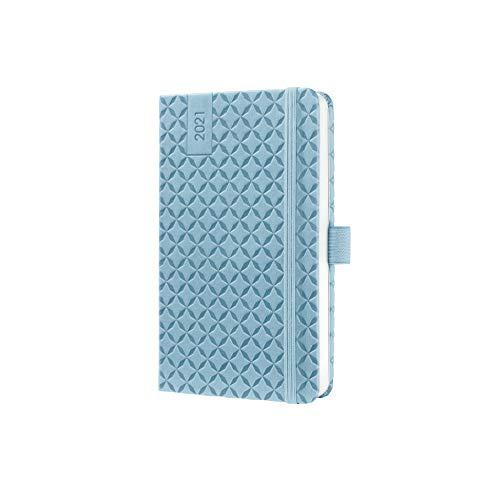 Preisvergleich Produktbild SIGEL J1112 Terminplaner Wochenkalender Jolie 2021,  ca. A6,  himmelblau,  mit fröhlichem Kalendarium,  vielen Infos und praktischen Stickern - weitere Modelle