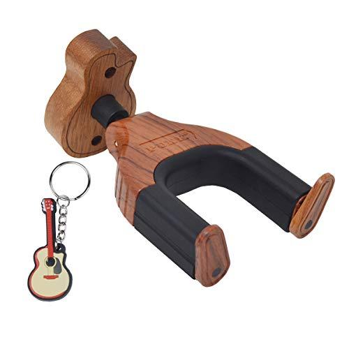 Gancho de pared para guitarra con cerradura automática, soporte de pared para guitarra con diseño creativo, base de madera para todos los instrumentos musicales de guitarra ..., Auto Lock - hanger