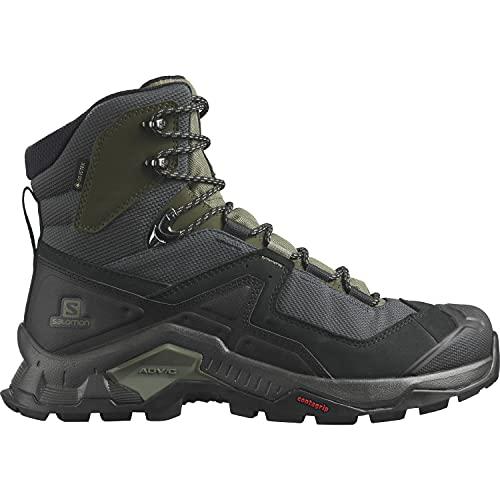 Salomon Quest Element Gore- Tex (impermeable) Hombre Zapatos de trekking,  Negro (Black/Deep Lichen Green/Olive Night),  47 1/3 EU