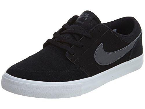 Nike Mens SB Portmore II Solar Skate Shoe Black/Dark Grey/White 13 M US