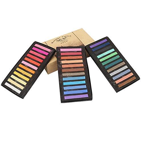 24.12.36/48 Verschiedene Farben Pastell Set Quadrat Pastell Buntstifte Einweg Haar Färbestange Malerei Kreide(36 Farbe)