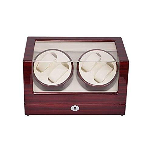 ZLININ Y-Longhair Watch Winder Winder Caso de Almacenamiento de Madera del Reloj automático de rotación de la Pantalla Caja de 4 Relojes Cajas para Relojes