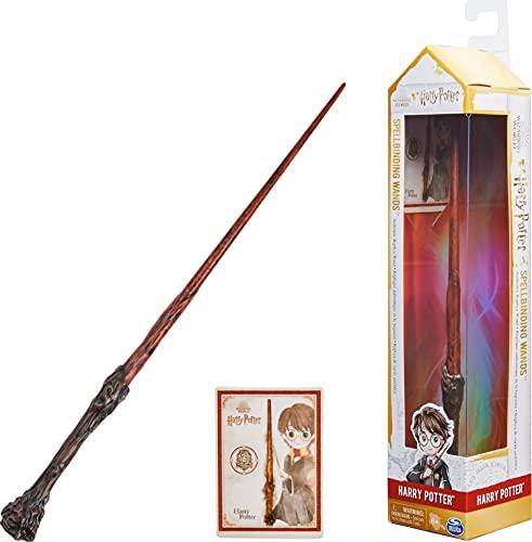 Harry Potter - Authentischer Harry Potter Zauberstab aus Kunststoff mit Zauberspruch-Karte, ca. 30,5 cm