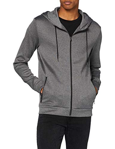 HUGO Herren Hooded Sweatshirt Debasti204, Medium Grey (33), M