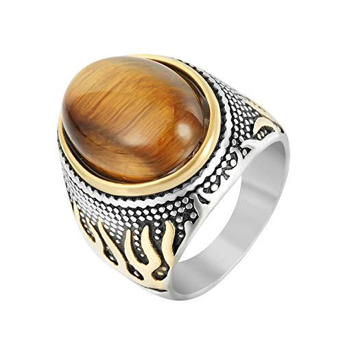 Aienid Edelstahl Ring Für Herren Kaffee Feuer Ring Herren Size:57 (18.1)