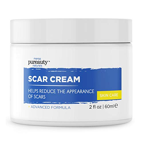Scar Cream for Face & Stretchmark cream, Reduce appearance of Acne Scars and Old Scars, Scar Removal Cream Alternative - Pureauty Naturals - 60ml