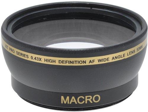 52mm 0,43x Grand Angle Objectif avec Fixation Macro Inclut Housse et Couvercles d'objectif Pour Nikon DSLR D3200 D3100 D3300 D3000 D5000 D5200 D5300 D5100 Coolpix P7000 P7700 P7100 P7800 OBJECTIF LENS 18-55 55-200 CANON 50MM F/1.4 F/1.8