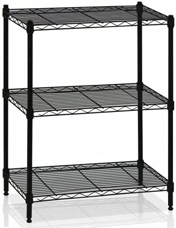 3 Tier Wire Shelving Oklahoma City Mall Rack Shelf Storage Orga Garage Our shop most popular Unit Kitchen